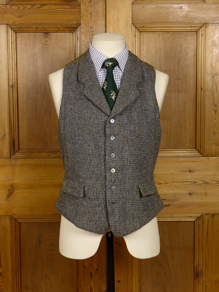 2006/17 'UPCYCLED' VINTAGE HEAVYWEIGHT HARRIS TWEED CLOTH COUNTRY WAISTCOAT 37-38 regular