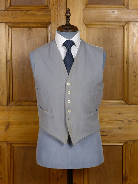 2201/15PT 1910S 1920S antique vintage dove grey morning waistcoat 40-41
