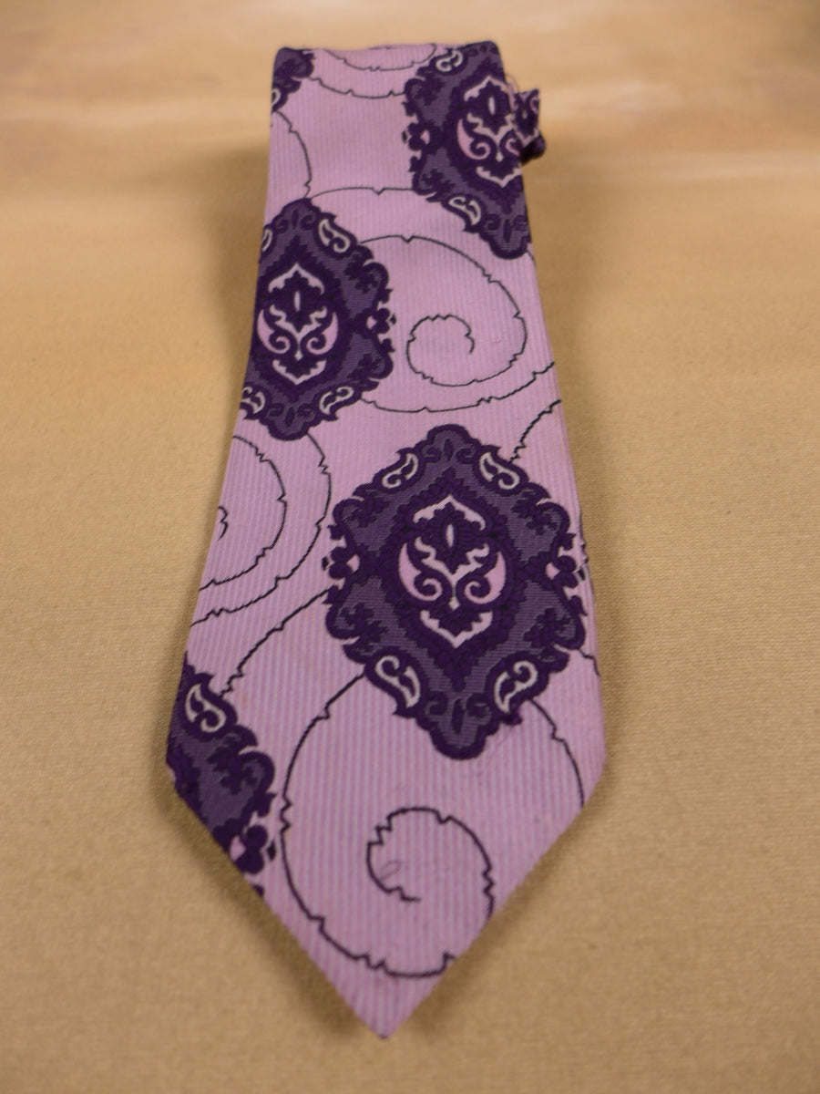 17/1690 GENUINE VINTAGE PINDER & TUCKWELL PURPLE TIE PERFECT FOR GOODWOOD REVIVAL