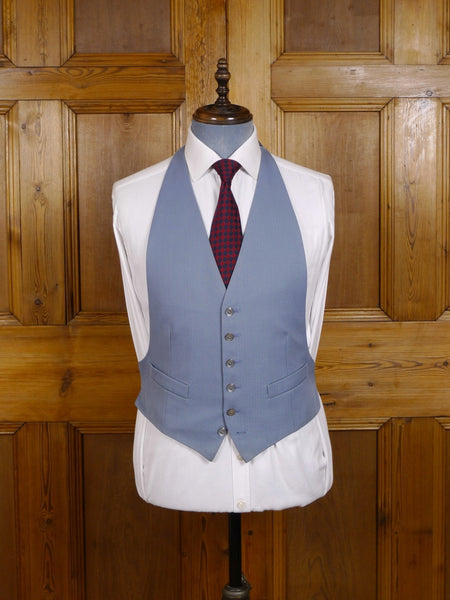 EX-HIRE DOVE GREY BACKLESS MORNING WAISTCOAT - ALL SIZES