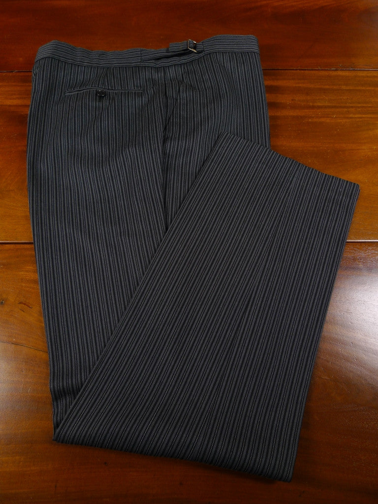 EX-HIRE WOOL-MIX CASHMERE STRIPE MORNING TROUSER - ALL SIZES / LENGTHS