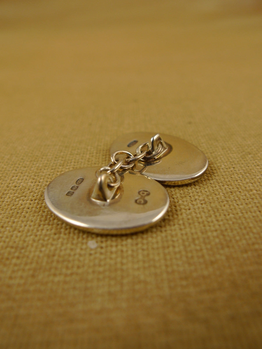 16/1456 sale NEW benson & clegg piccadilly arcade hallmarked sterling silver chain cufflinks (ref 614s) rrp £180