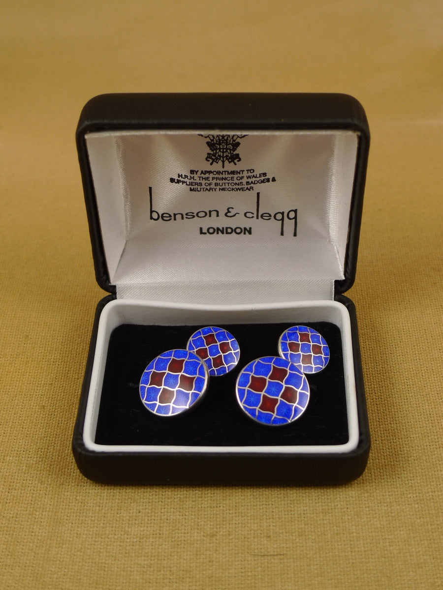 16/1456 sale NEW benson & clegg piccadilly arcade hallmarked sterling silver chain cufflinks (ref 629s) rrp £180