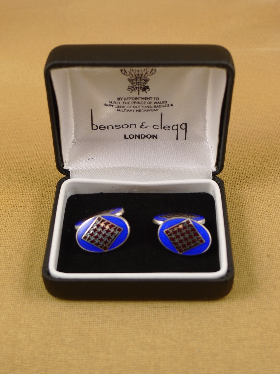 16/1456 NEW benson & clegg piccadilly arcade hallmarked sterling silver chain cufflinks (ref 616s) rrp £180