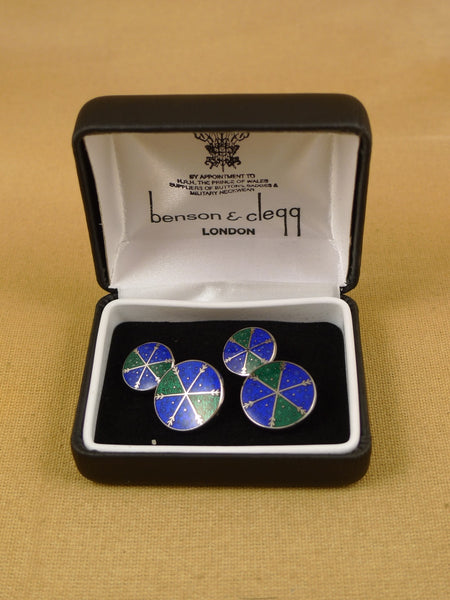 16/1454 NEW benson & clegg piccadilly arcade rhodium chain cufflinks (ref 633rc) rrp £90