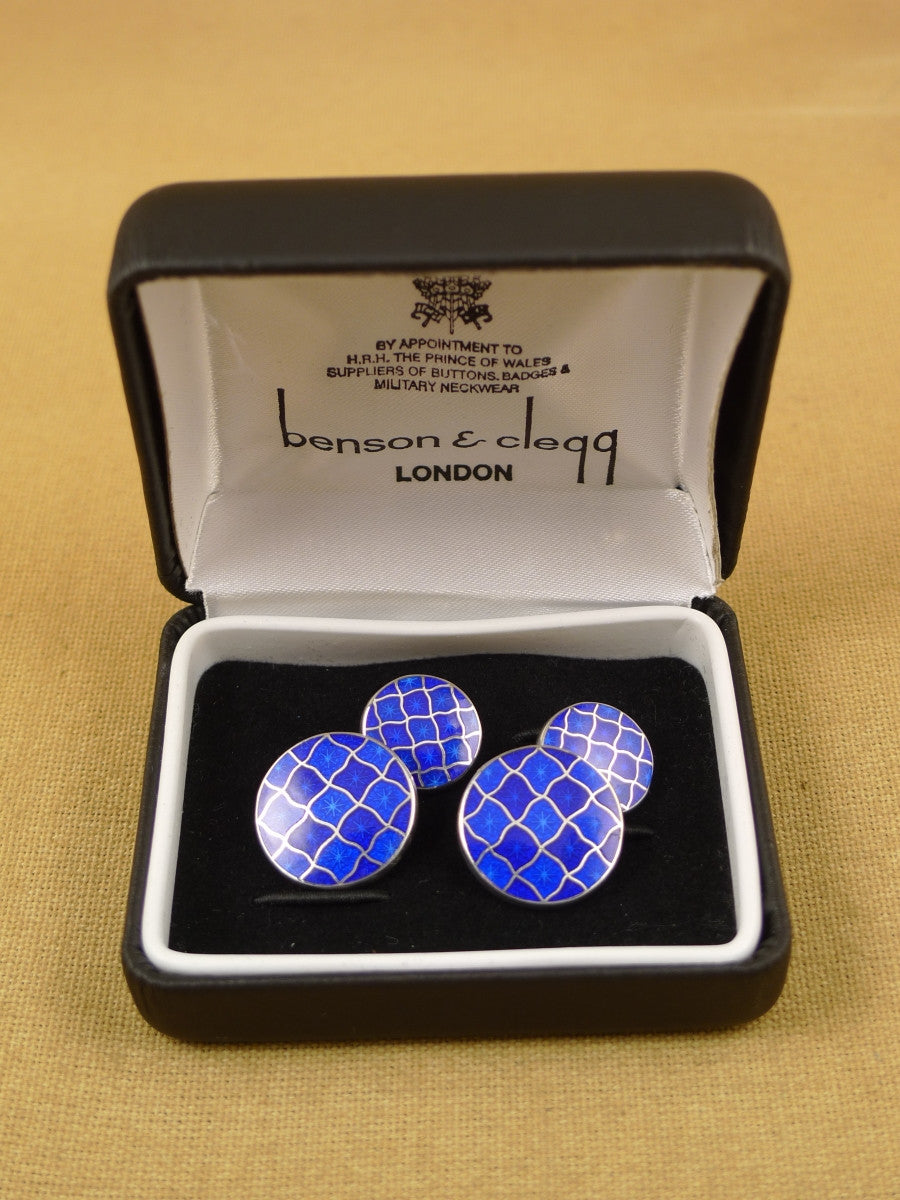 16/1456 sale NEW benson & clegg piccadilly arcade hallmarked sterling silver chain cufflinks (ref 626s) rrp £180
