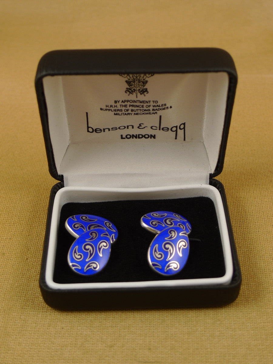 16/1456 sale NEW benson & clegg piccadilly arcade hallmarked sterling silver chain cufflinks (ref 623s) rrp £180