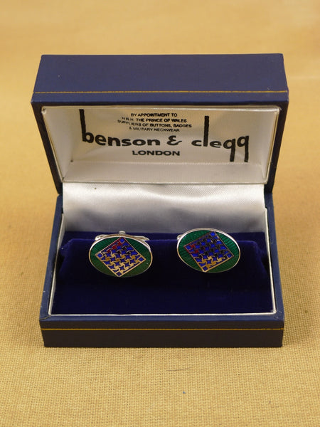 16/1455 NEW benson & clegg piccadilly arcade rhodium t-bar cufflinks (ref 615rt) rrp £55