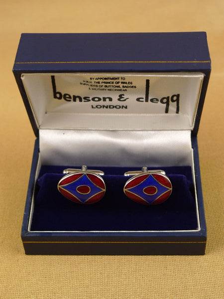 16/1455 NEW benson & clegg piccadilly arcade rhodium t-bar cufflinks (ref 622rt) rrp £55