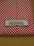 17/1283 immaculate trussardi red / white 100% silk tie