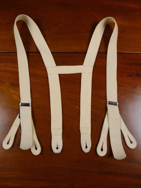 17/1740 vintage cream cavalry twill braces w/ kid leather ends small