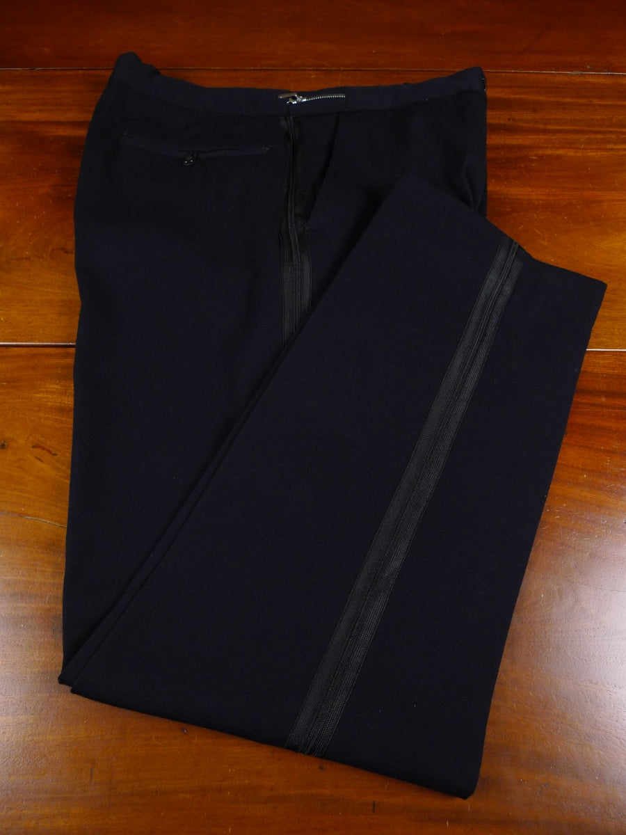 17/1820 vintage 1950s 1960s midnight blue barathea evening trouser 35 short regular