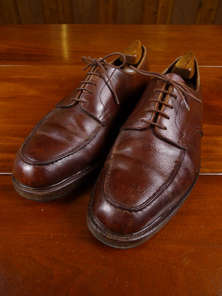 17/1742 (dc) wonderful 1950s vintage john lobb heavyweight mahogany brown derby apron shoe uk 10.5 wide fitting