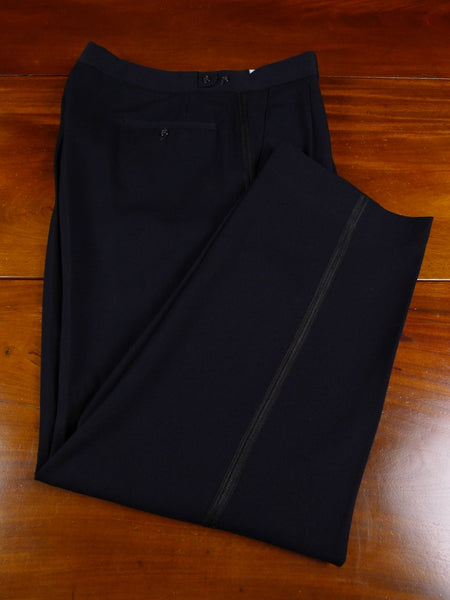 17/1766 quality vintage midnight blue barathea evening trouser 35 short regular