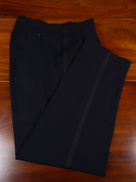 17/2024 (pt) vintage 1959 meyer & mortimer midnight blue high-rise evening trouser 34 short regular long