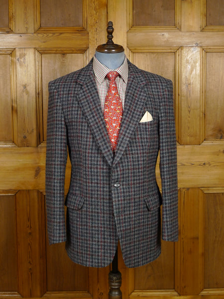 17/2026 vintage magee donegal tweed grey / red gun club check jacket 41-42 regular