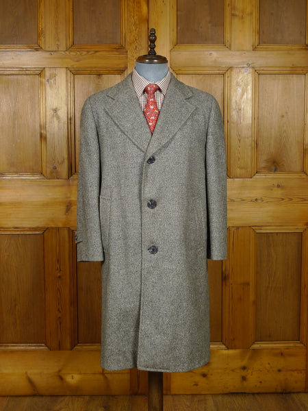 17/2038 vintage crombie highland tweed grey raglan overcoat coat 40 short