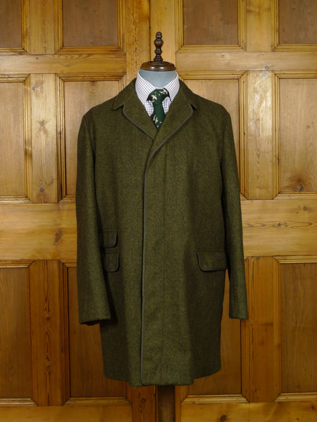 17/2069 (pt) vintage gannex green twist tweed raglan coat overcoat 42