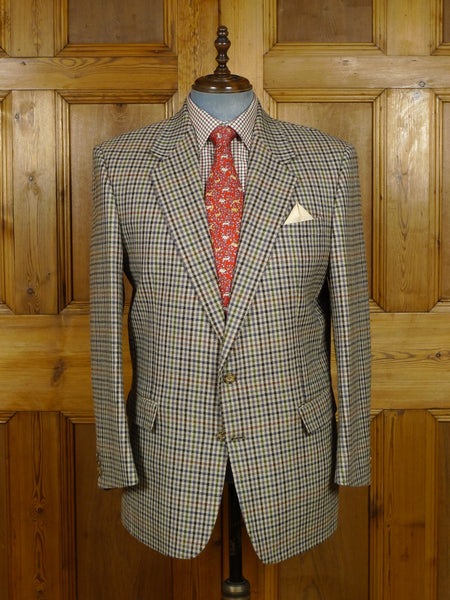 17/2080 (pt) near immaculate john g hardy gun club check tweed sports jacket 44 regular