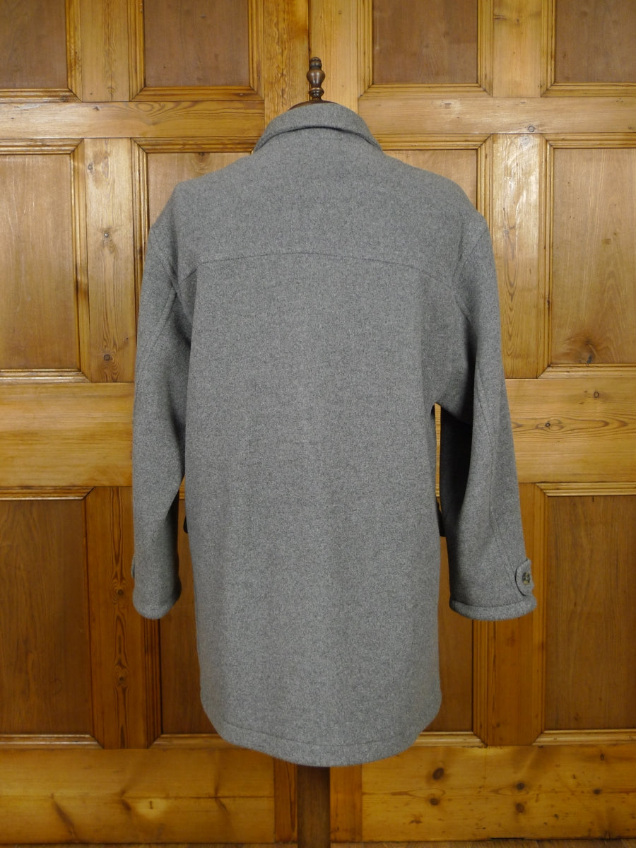 17/2094 (pt) immaculate modern austin reed 'sport' grey wool mix soft jersey style field coat xl