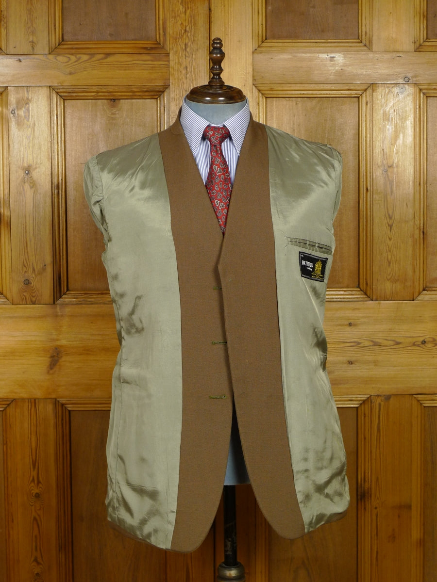17/2119 (pt) immaculate 1974 vintage wool & mohair tonic 2-tone brown / green 'director' suit 43 long