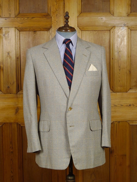 17/2168 (dc) superb vintage henry poole savile row bespoke linen & silk sports jacket blazer 44-45 regular