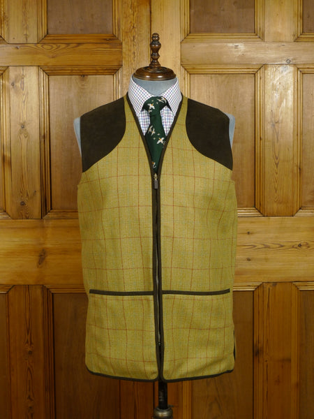 17/2305 immaculate barbour windowpane check tweed shooting waistcoat vest gilet 44