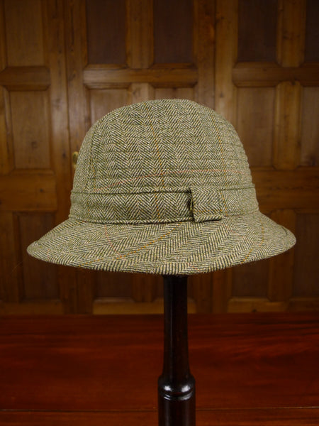 17/2318 mint vintage lock & co green wp check tweed hat 55 cms