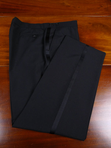 17/2399 new w/tags boss turo lightweight wool mix black evening dress trouser 40 short