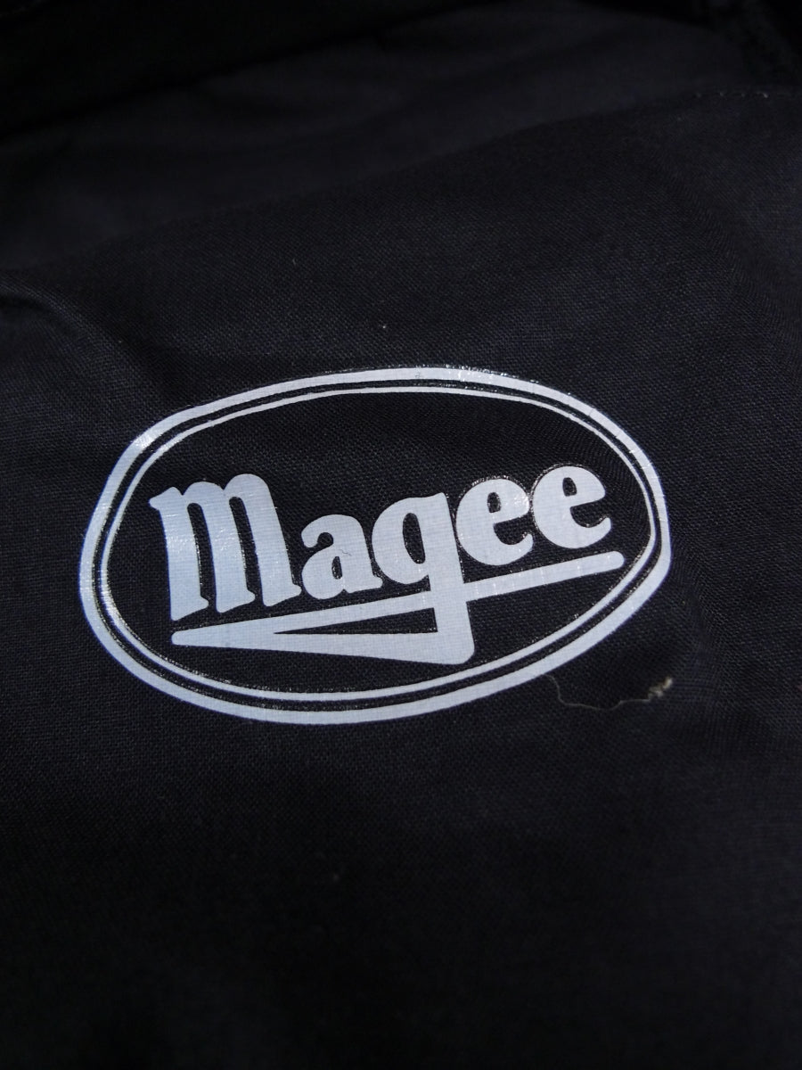 17/2402 new (seconds) magee lightweight wool mix black evening dress trouser 36 long