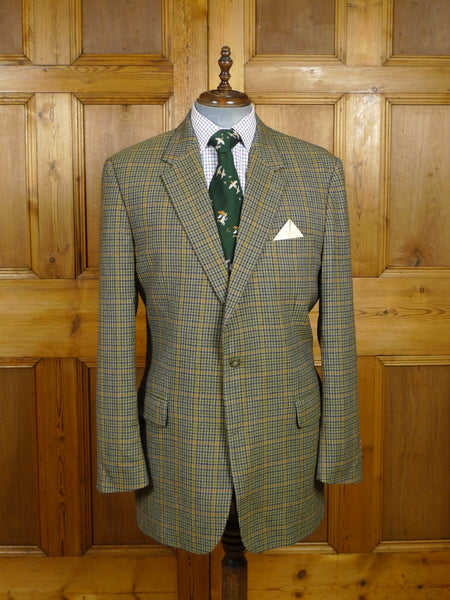 18/0063 modern burberry gun club check wool & cashmere sports jacket 45 extra long