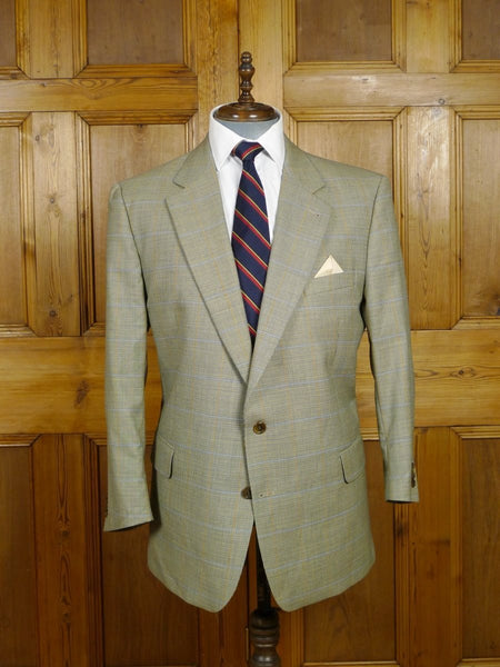 18/0064 immaculate burberry fine dogtooth check lightweight wool sports jacket 45 short to regular