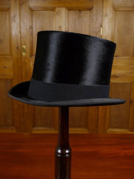 18/0094 vintage austin reed london black silk top hat for royal ascot 56 cms