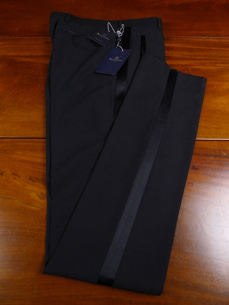 18/0098 new w/ tags aquascutum black lightweight wool evening trouser 32 extra long (unfinished)