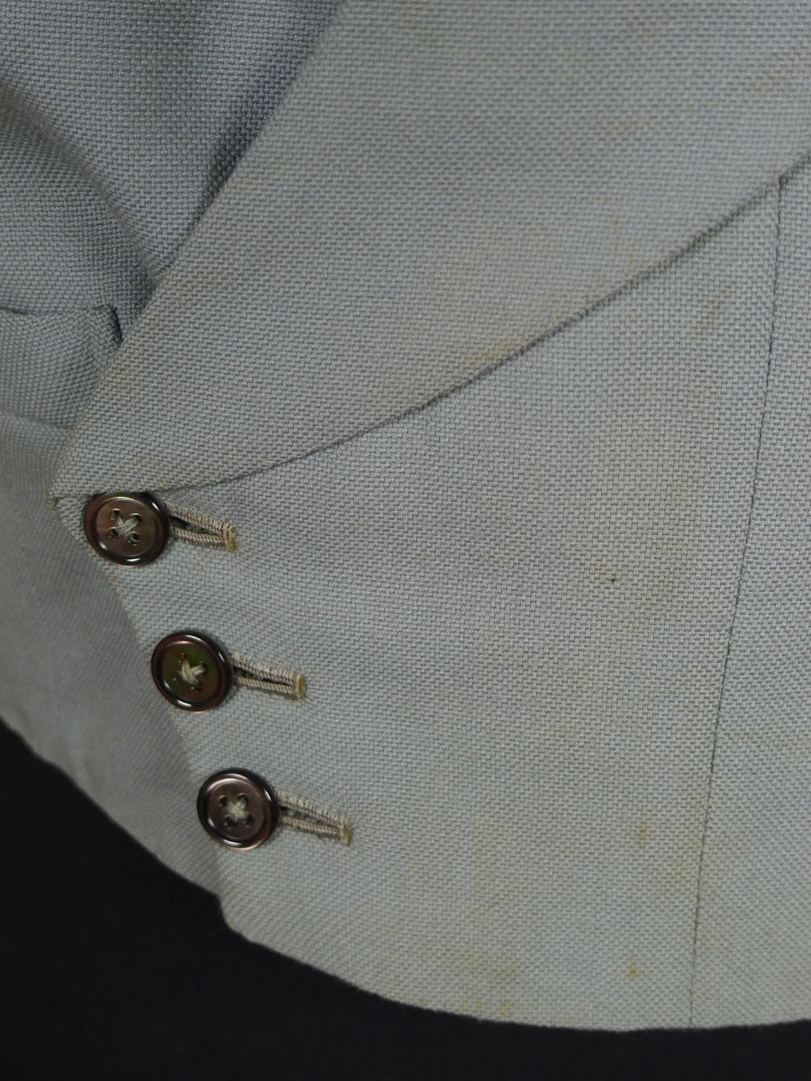 18/0144 vintage 1937 bernard weatherill savile row bespoke dove grey d/b morning waistcoat 37 short