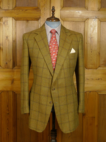18/0187 stunning near immaculate vintage 2004 paul smith westbourne house bespoke windowpane check tweed jacket 42 -43long