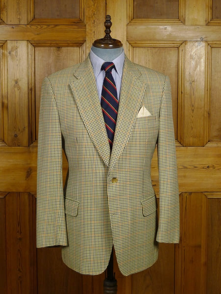 18/0205 vintage burberry fine check lightweight wool & silk sports jacket 40 regular