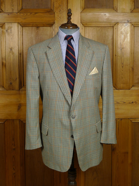18/0206 vintage burberry fine check wool sports jacket 46 short to regular