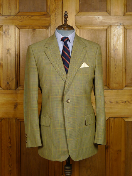 18/0204 immaculate modern burberry fine check lightweight wool sports jacket 43 regular