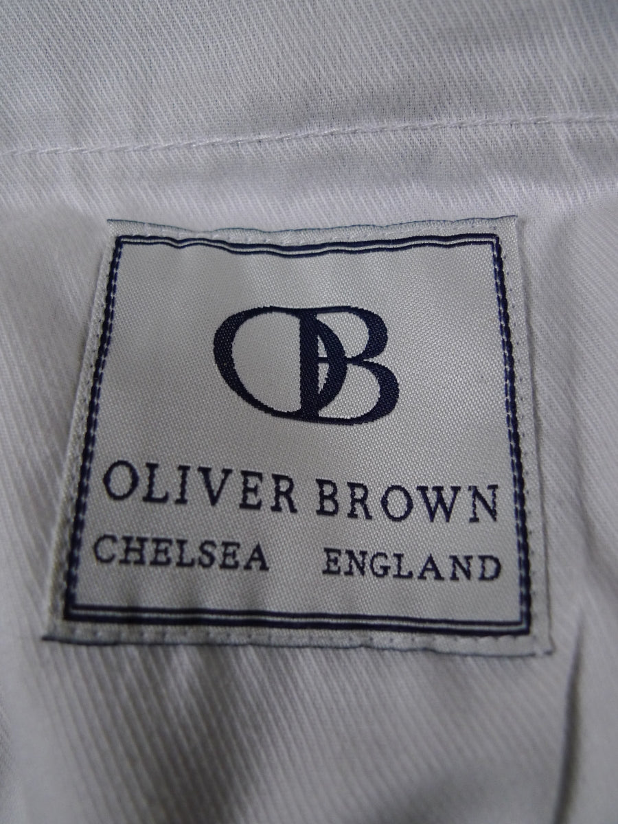 18/0264 oliver brown chelsea heavyweight green windowpane check tweed trouser (rrp £280) 38 short regular