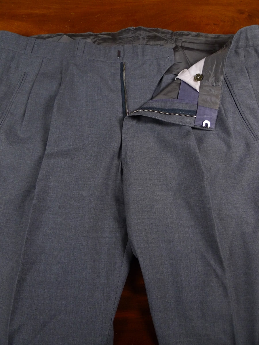 18/0276 anderson & sheppard savile row bespoke lighter-weight grey wool trouser 43 long
