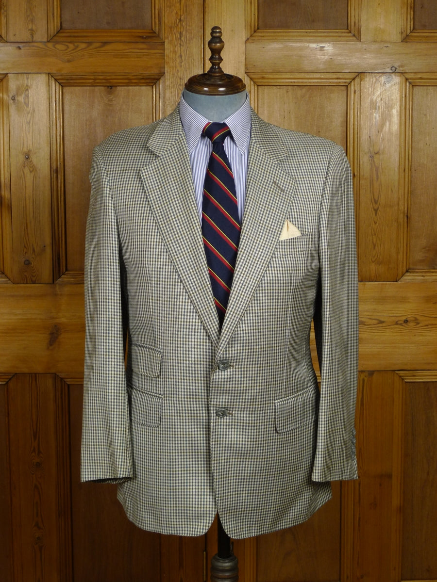 18/0291 vintage dunhill london wool & 30% silk fine check sports jacket blazer 40 regular