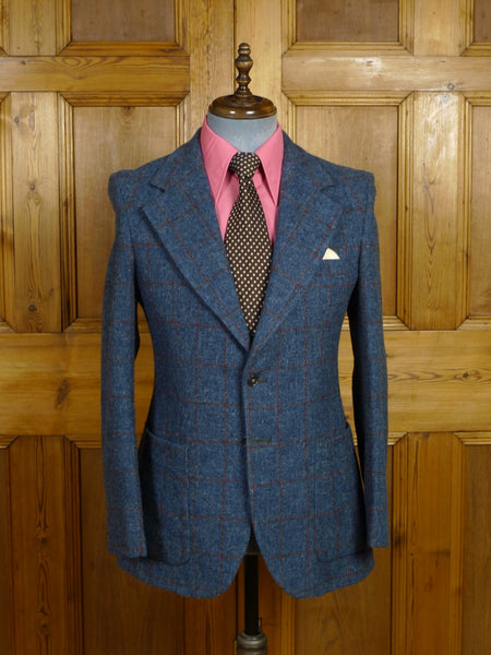 18/0299 wonderful 1960s 1970s vintage lord john carnaby street boutique windowpane check tweed sports jacket 38 regular