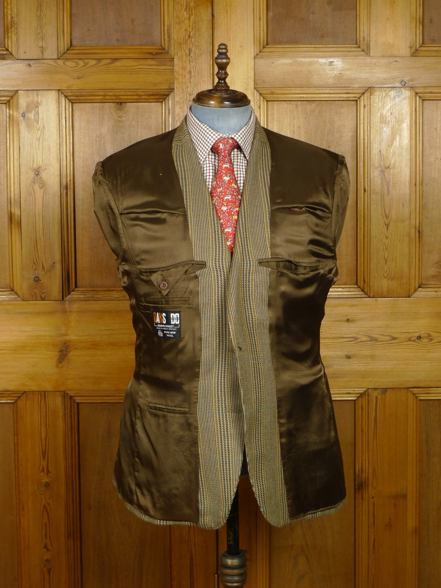 18/0311 vintage daks brown glen check tweed sports jacket 44 short