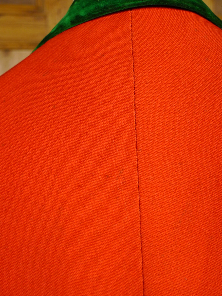 18/0317 amazing 1922 savile row bespoke red tailcoat w/ tynedale hunt buttons 36-37 regular to long