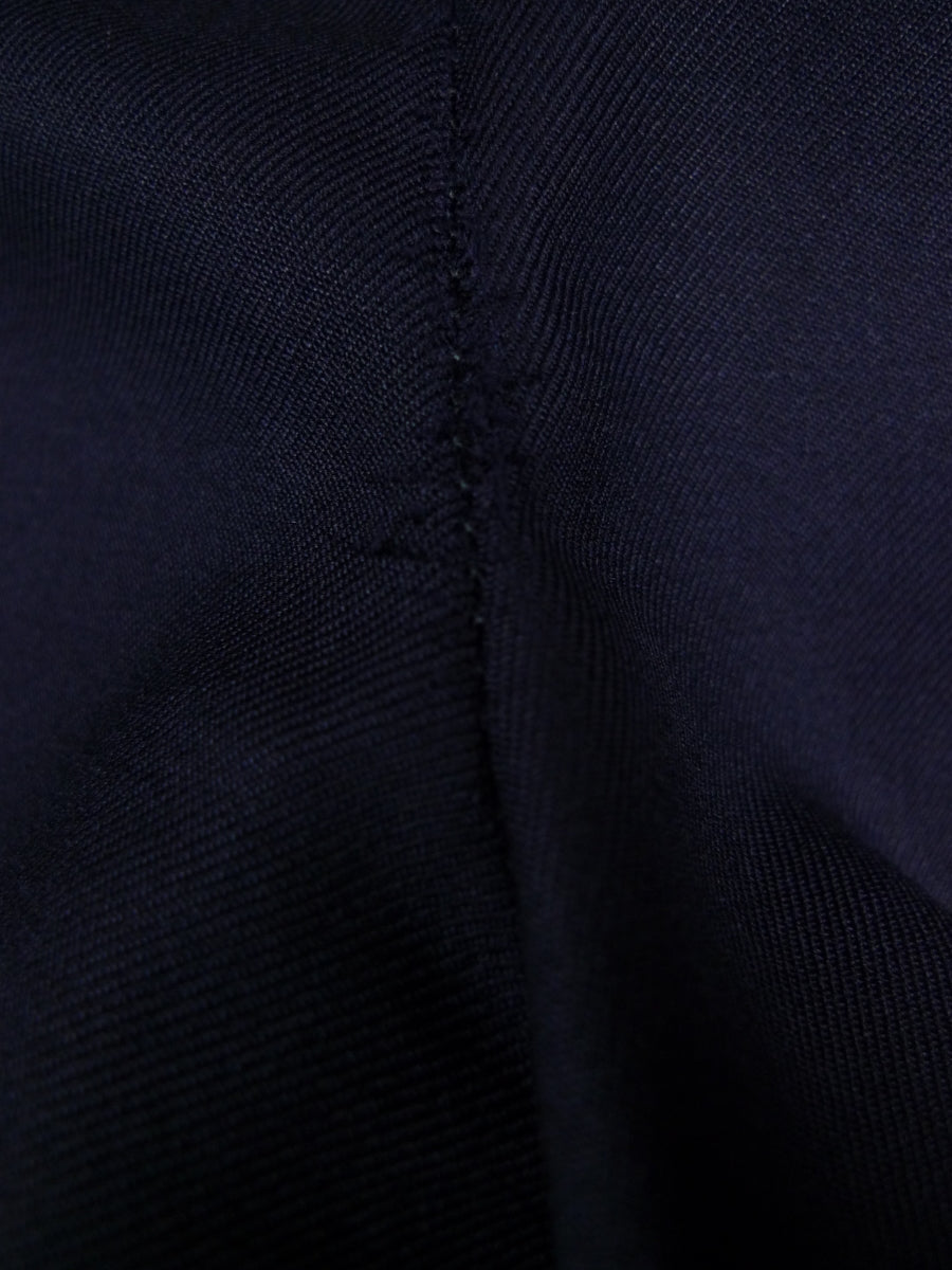 18/0552 gieves & hawkes 2001 savile row bespoke navy blue worsted high-rise trouser 47