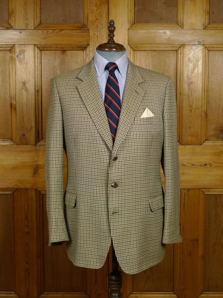 18/0688 vintage burberry london houndstooth check tweed sports jacket 45 regular