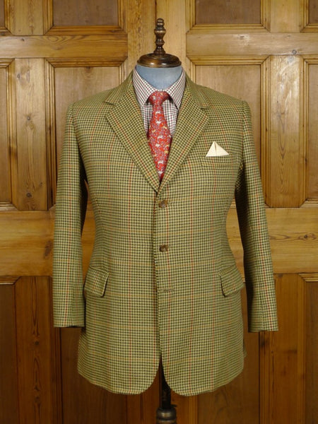 18/0819 bernard weatherill savile row bespoke gun club check tweed jacket 42 short