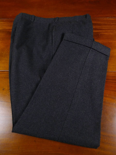 18/0829 vintage savile row bespoke grey worsted flannel trouser 40