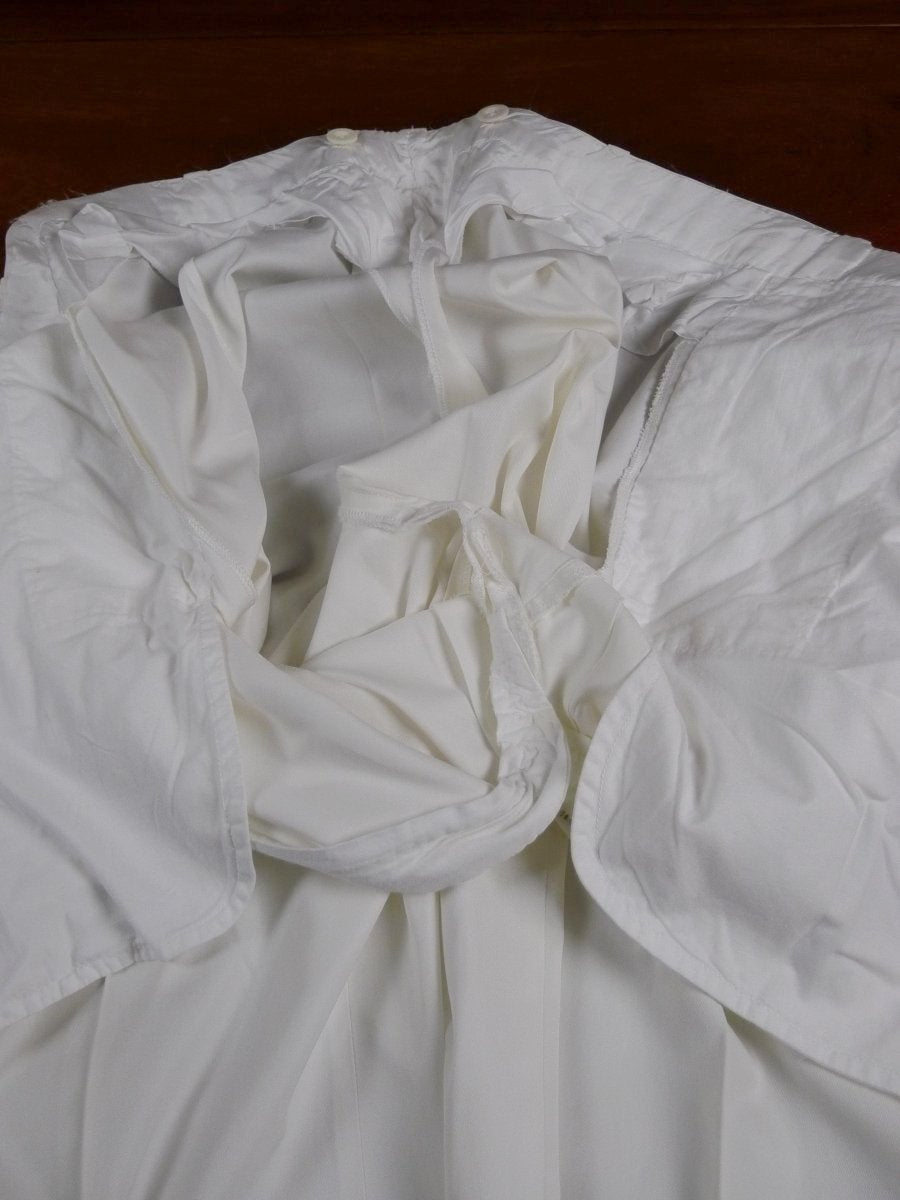 18/0835 vintage hackett ivory white cotton chino trouser w/ buttons for braces 40